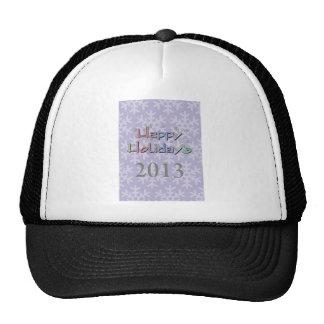 happy holidays 2013 mesh hats