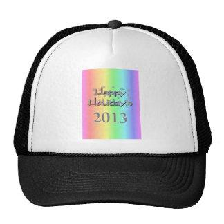 happy holidays 2013 mesh hat