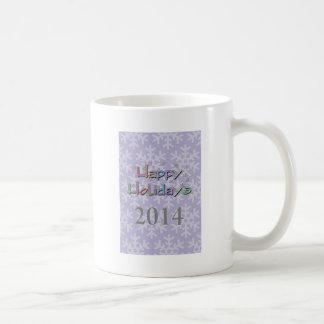 happy holidays 2014 mug