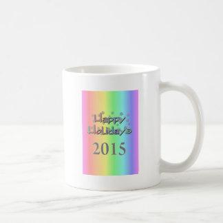 happy holidays 2015a coffee mugs