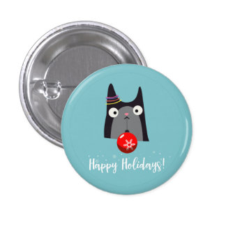 Happy Holidays! 3 Cm Round Badge