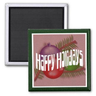 Happy Holidays 3 Magnet
