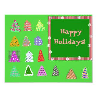 """Happy Holidays! 4.25"""" X 5.5"""" Invitation Card"""
