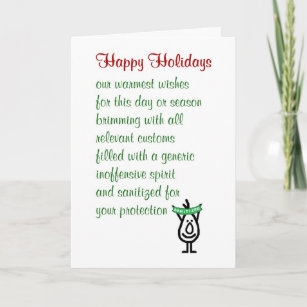 Funny poem christmas cards zazzle uk happy holidays a funny holiday greetings card m4hsunfo