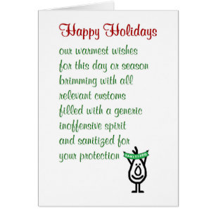 Funny christmas poem cards invitations zazzle happy holidays a funny holiday greetings card m4hsunfo Gallery
