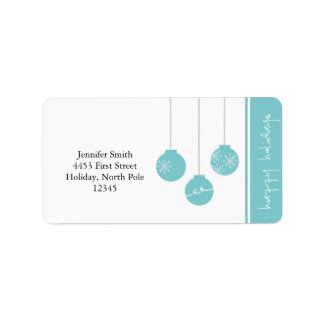 Happy Holidays Address Label