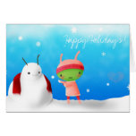 Happy Holidays! Alien 1 Greeting Cards