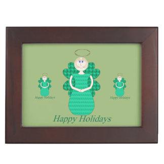 Happy Holidays Angel Keepsake Box