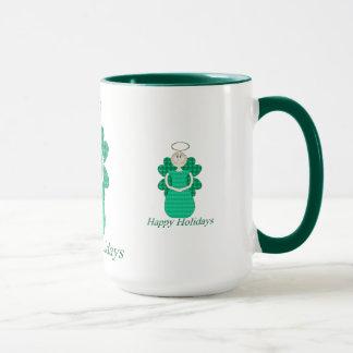 Happy Holidays Angel Mug