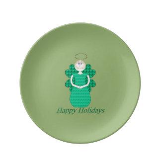 Happy Holidays Angel Plate