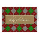 Happy Holidays Argyle Card
