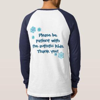 Happy Holidays Autism Awareness light shirt