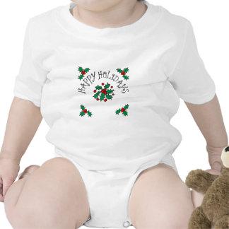 Happy Holidays Baby Bodysuits