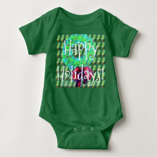 Happy Holidays Baby Presents Baby Bodysuit