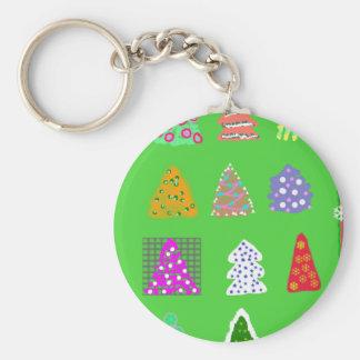 Happy Holidays! Basic Round Button Key Ring