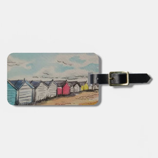 Happy Holidays Beach Hut Luggage Tag