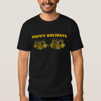 HAPPY HOLIDAYS BLACK T-SHIRT