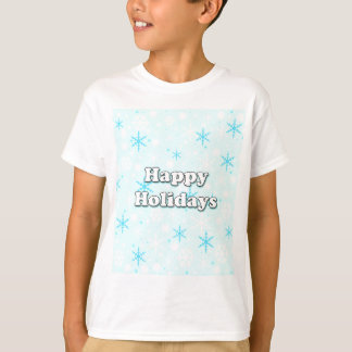 Happy Holidays - blue design T-Shirt