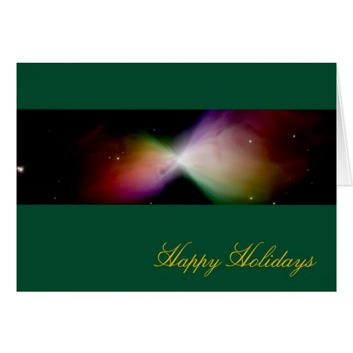 Happy Holidays Boomerang Nebula – Hubble Telescope Greeting Card