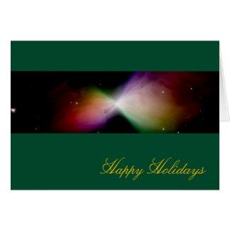 Happy Holidays Boomerang Nebula – Hubble Telescope Greeting Card