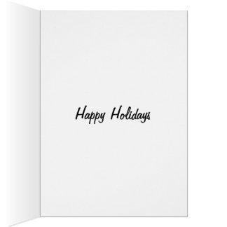 Happy Holidays Boston Terrier Reindeer Card