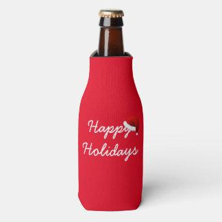 Happy Holidays Bottle Cooler