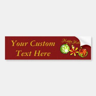 Happy Holidays Bumper Sticker