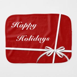 Happy Holidays Burp Cloth