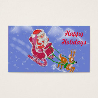 Happy Holidays Business Card