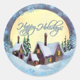 HAPPY HOLIDAYS by SHARON SHARPE Classic Round Sticker