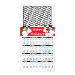 Happy Holidays Calendar 2011 Photo Card Snowman
