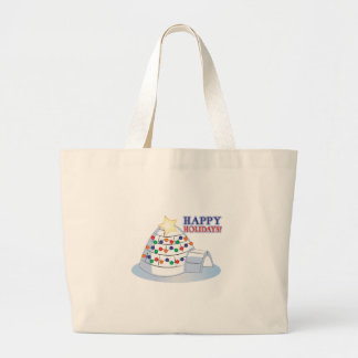 Happy Holidays Canvas Bags