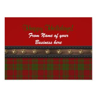 Happy Holidays card from business plaid 13 Cm X 18 Cm Invitation Card