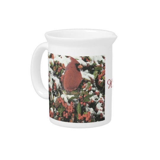 Happy Holiday's Cardinal Pitcher