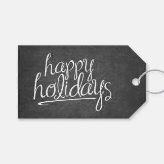 Happy Holidays chalkboard Gift Tags