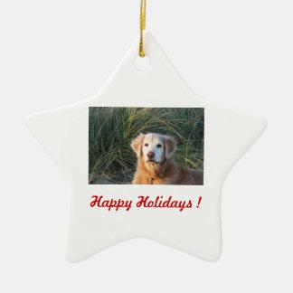 Happy Holidays ! - Chance Ceramic Star Decoration
