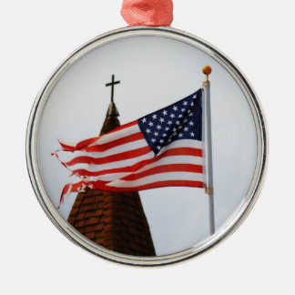 Happy Holidays Christians Silver-Colored Round Decoration