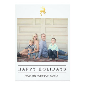Happy Holidays   Christmas 13 Cm X 18 Cm Invitation Card