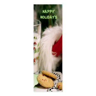 Happy Holidays Christmas Bookmark Business Card Template
