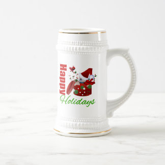 Happy Holidays Christmas Box Mug