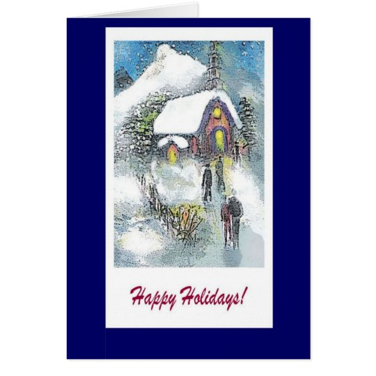 Happy Holidays Christmas church note card