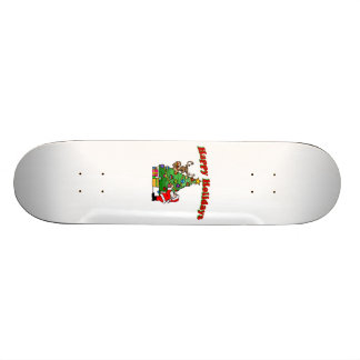 Happy Holidays Christmas Decorating 20 Cm Skateboard Deck