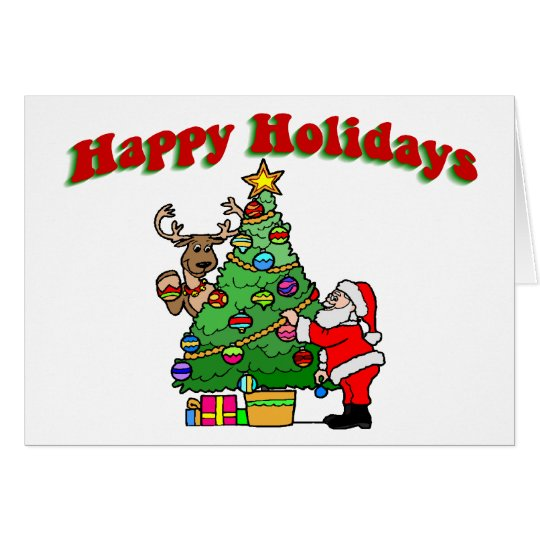Happy Holidays Christmas Decorating Card