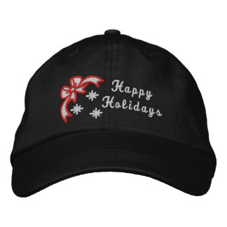 Happy Holidays christmas embroidered women s hat Embroidered Hats