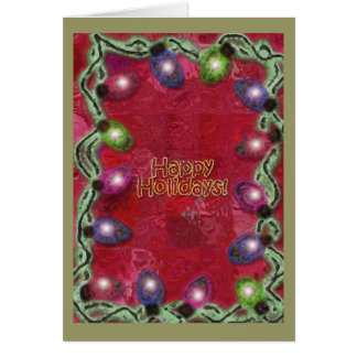 Happy Holidays Christmas Lights Greeting Card