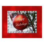 Happy Holidays Christmas Ornament Poster