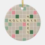 Happy Holidays Christmas Ornaments