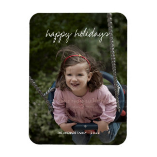 Happy Holidays Christmas Photo Holiday Wishes Flexible Magnets