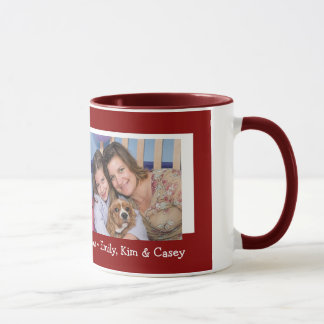 Happy Holidays Christmas Photo Mug