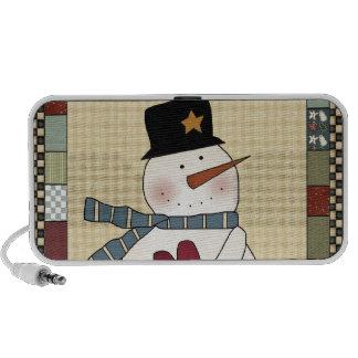 Happy Holidays Christmas Snowman iPod Speakers